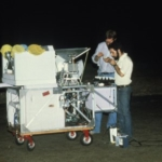TMSS-2 payload with Princeton Group gondola 1981 - Smoot and Lubin during testing