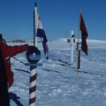 South Pole 1988 - barber pole is at the actual geographic pole