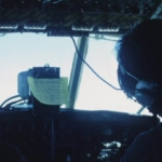 Flying to the South Pole - cockpit of C-130 1988