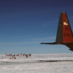 C-130 at South Pole - The engines stay on to keep warm